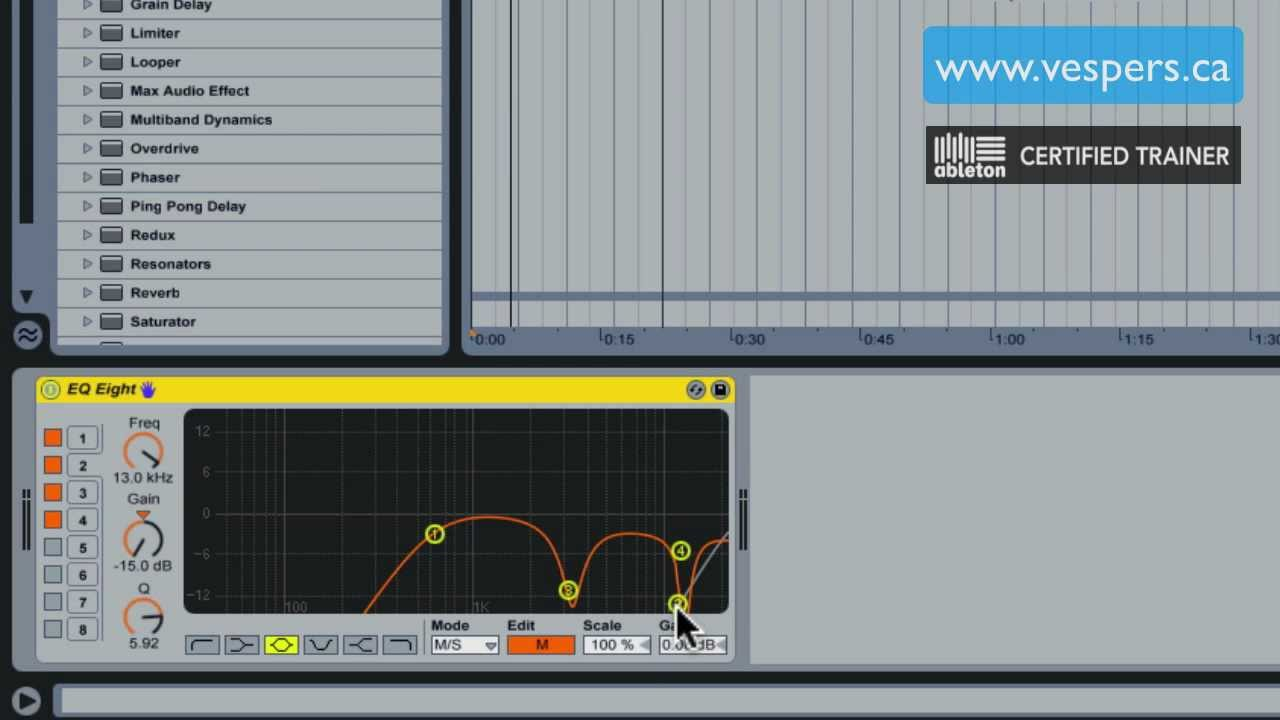 Ableton: Isolate Vocals from a full track
